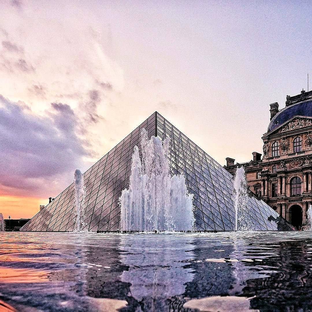| visiting the louvre