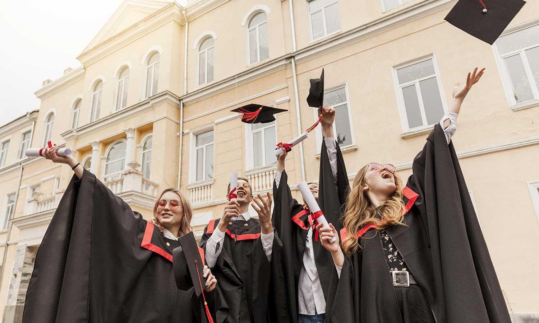   students celebrating graduation2