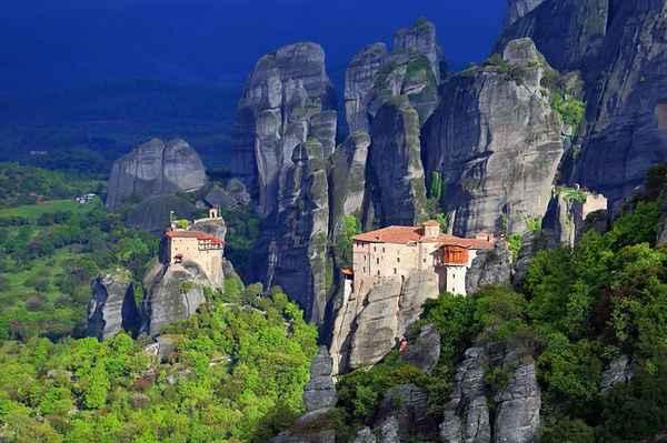 | greece meteora monasteries and rock spires 1