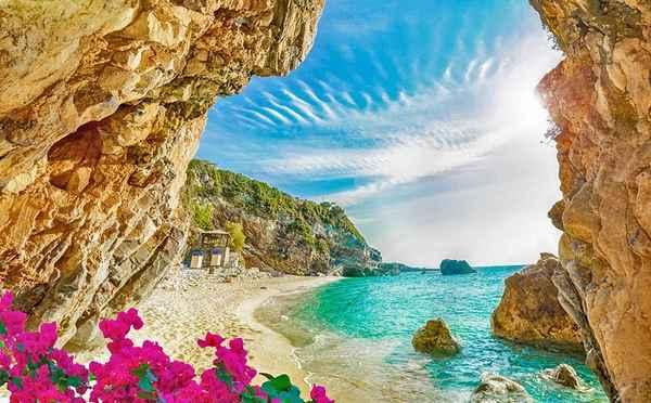 | greece top attractions corfu beach
