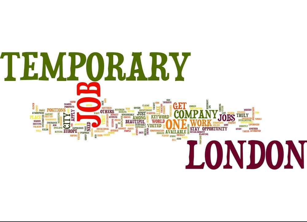 | temporary job in london text background word vector 16054281
